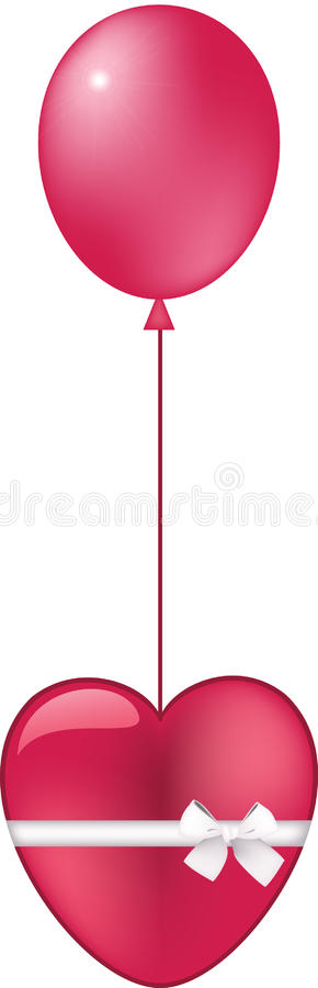 Download Heart with a ballon stock vector. Image of image, mesh - 26788822
