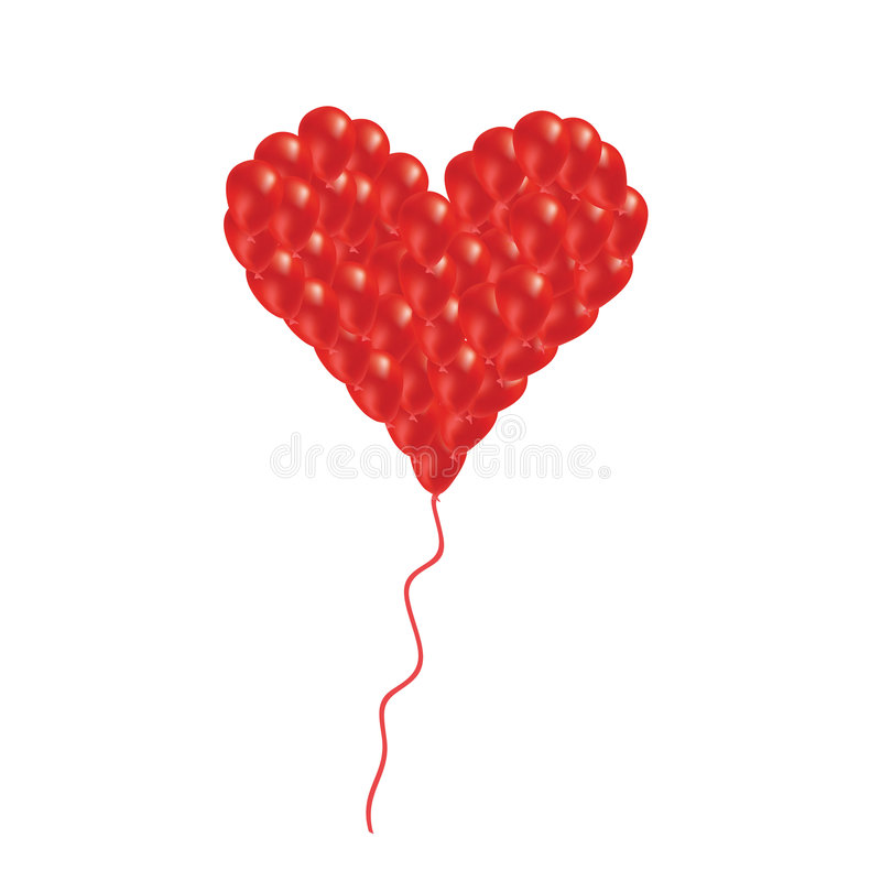 Heart From Balloon Stock Photo