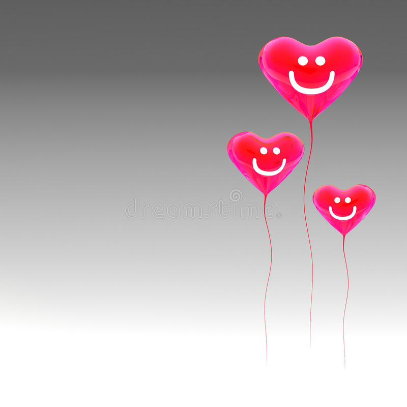 Download Heart balloon colored red stock illustration. Image of helium - 29079450