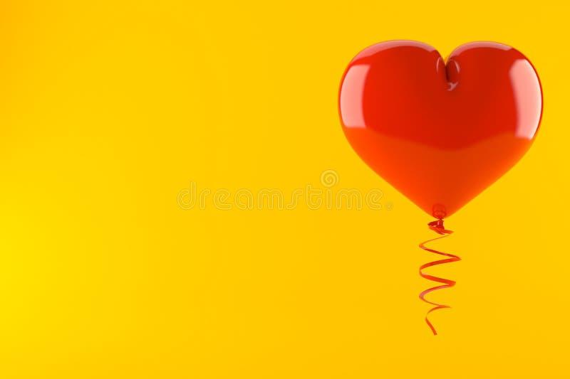 Heart balloon stock illustration