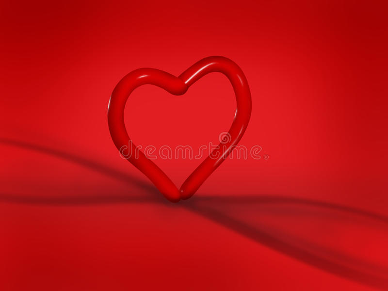 Heart Balloon On Red Background Stock Photo