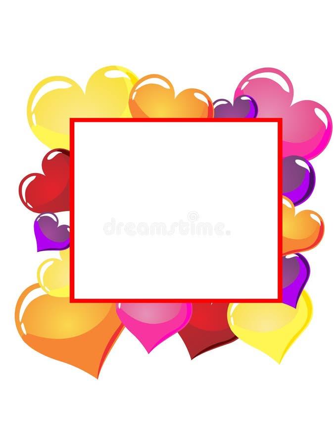 Heart balloons vector illustration