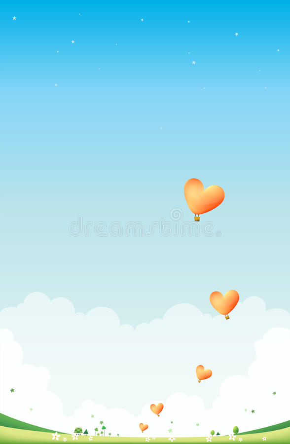 Download Heart Balloons stock illustration. Image of colors, happy - 21952627