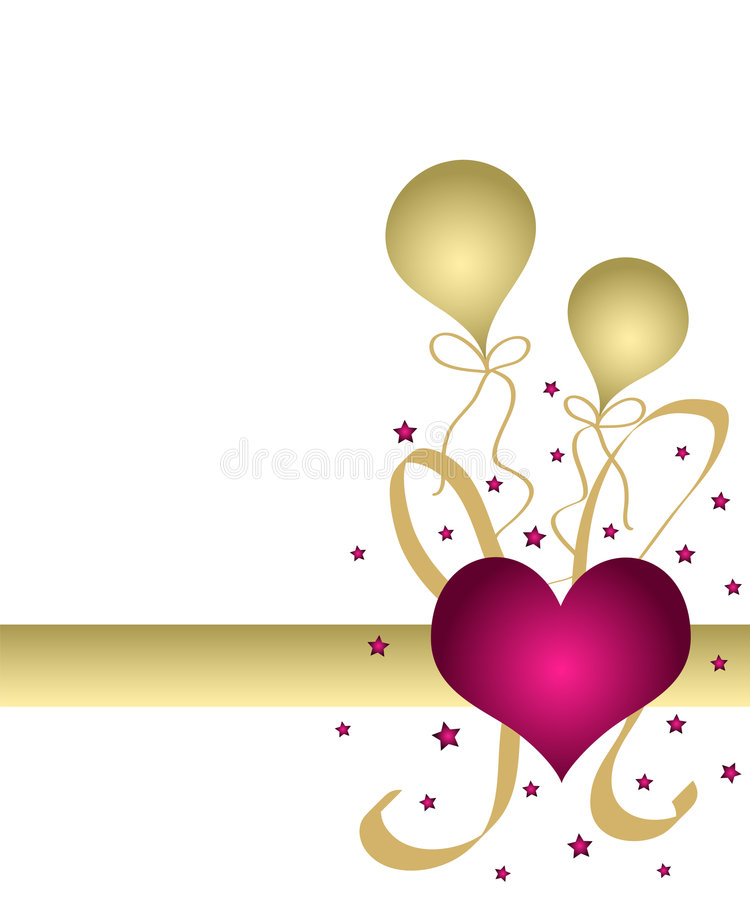 Heart and balloons vector illustration