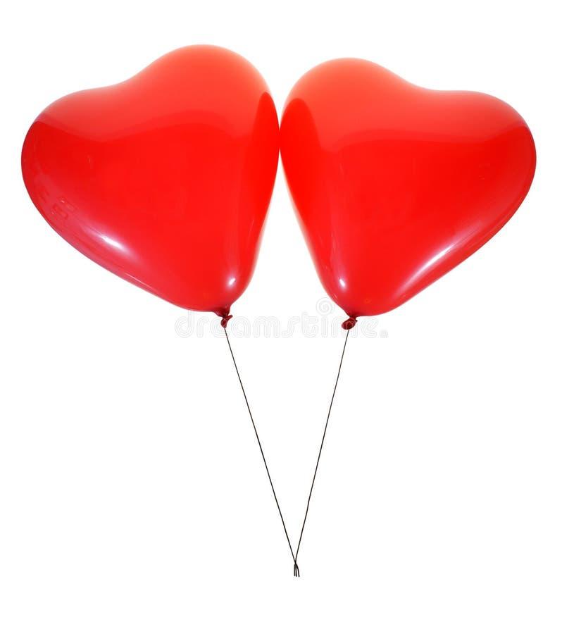 Heart balloons stock photography