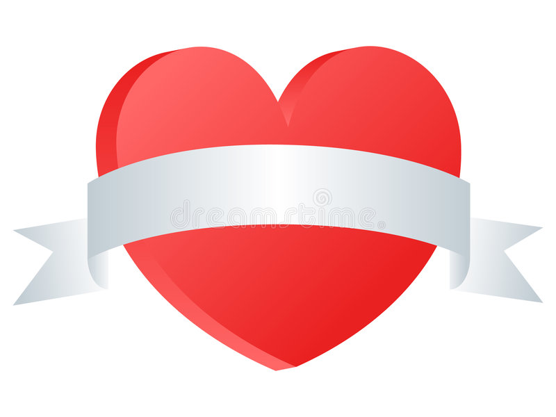 Heart Banner royalty free illustration