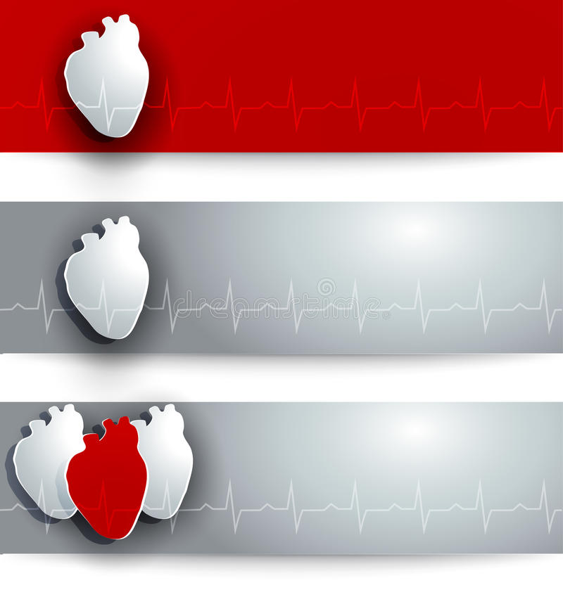 Heart banners royalty free illustration