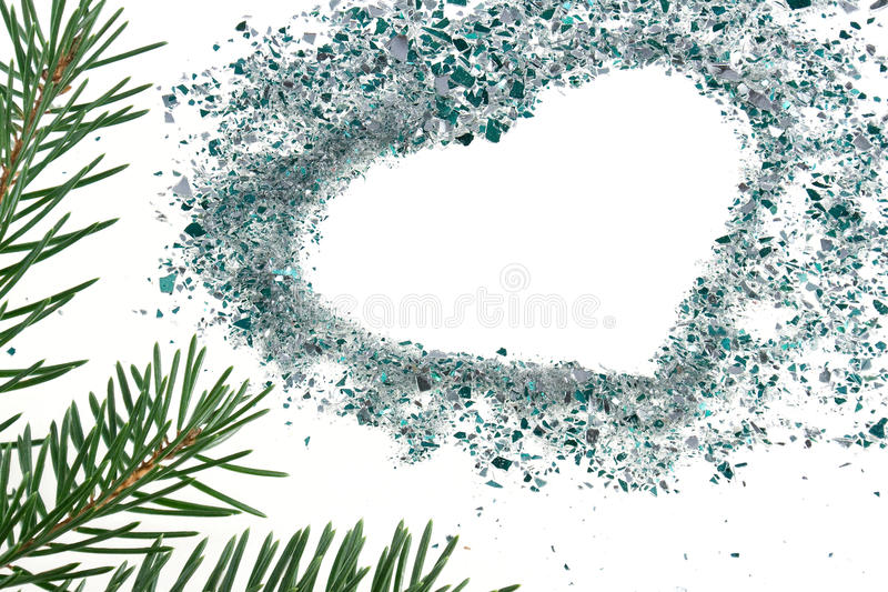 Download Heart of bauble fragments stock image. Image of silver - 11940039