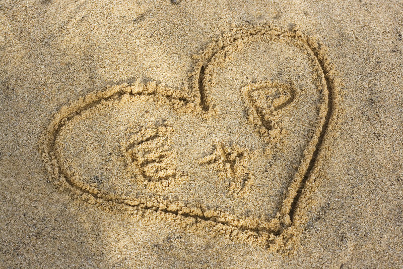 Download Heart on a beach stock image. Image of dream, love, shape - 12727227