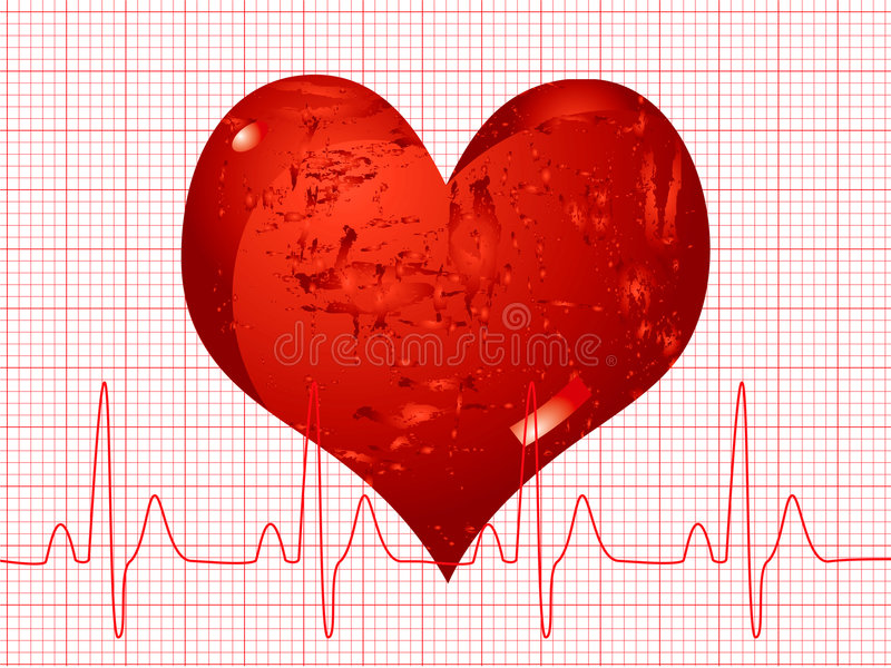 Download Heart beat stock vector. Image of digital, emergency, frequency - 2796384