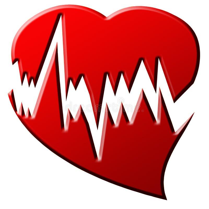 Heart beat royalty free illustration
