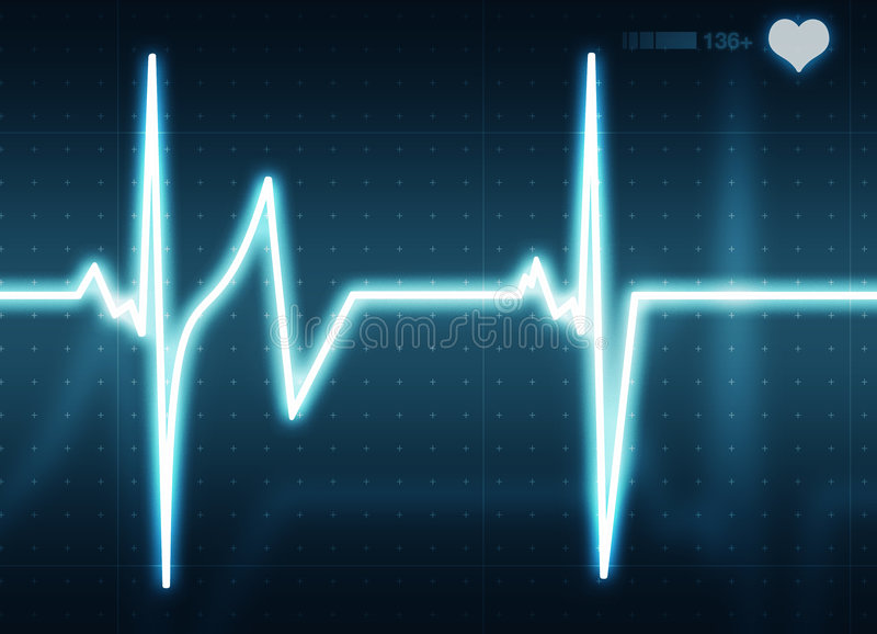 Download Heart Beat stock image. Image of chart, skip, medical, rate - 951979
