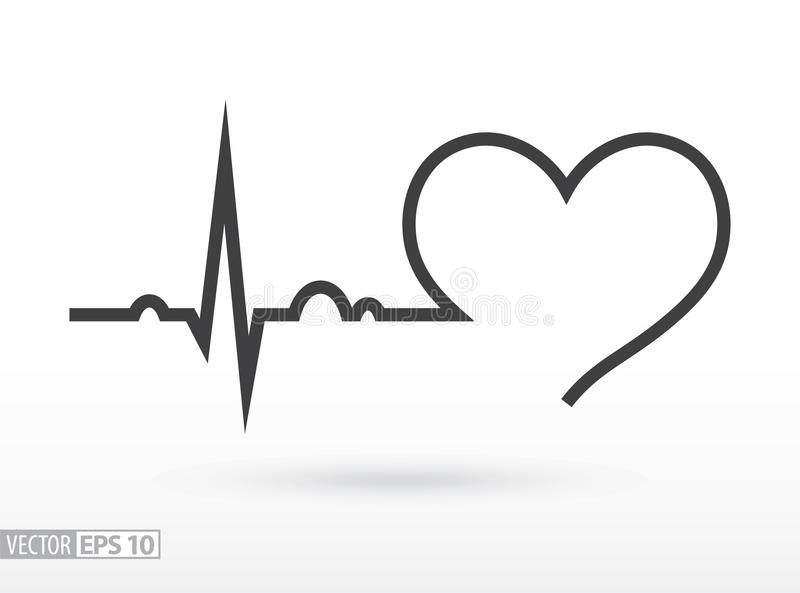 Heart beat. Cardiogram. Cardiac cycle. Medical icon. royalty free illustration
