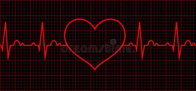 Heart beat. Cardiogram. Cardiac cycle royalty free illustration