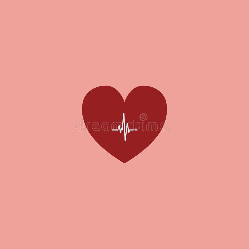 Heart beat, cardiogram. Pulse icon.  symbol EPS10. Heart beat, cardiogram. Pulse icon  symbol, heartbeat, line, monitor, health, cardiac, curve, graph, healthy royalty free illustration