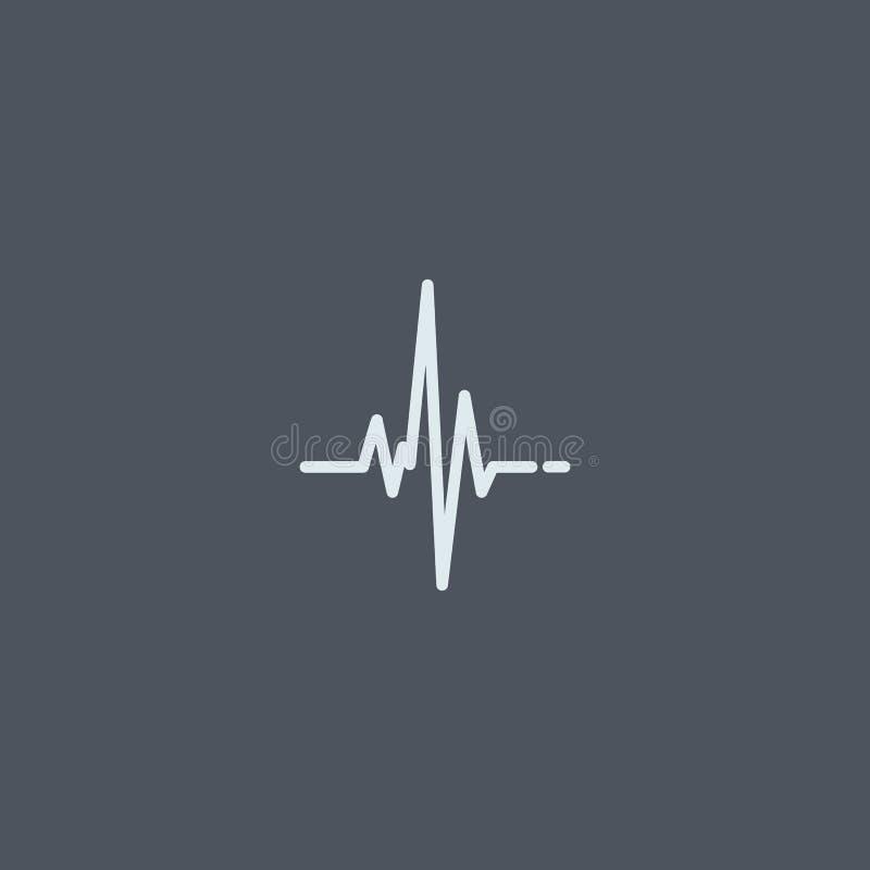 Heart beat, cardiogram. Pulse icon.  symbol EPS10 royalty free illustration