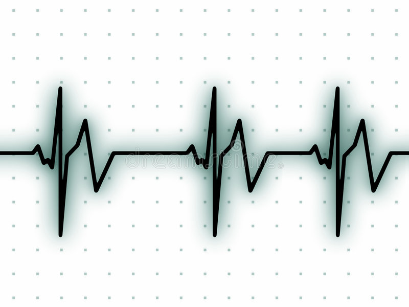 Download Heart beat on ECG screen stock illustration. Image of graphic - 6513001
