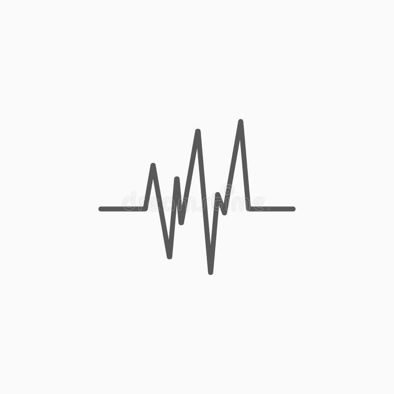 Heart beat icon, health, graph, hospital stock illustration