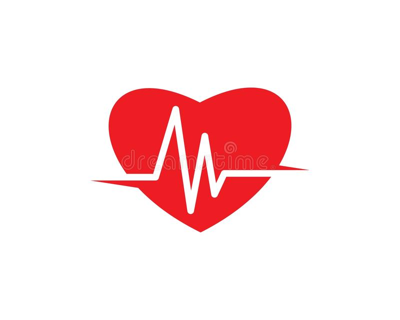 Heart beat line vector. Ilustration royalty free illustration