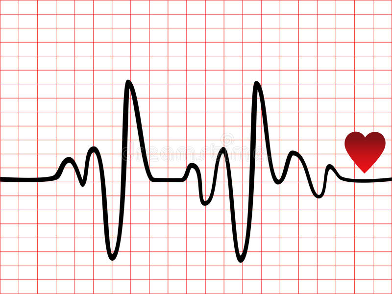 Heart beat monitor stock illustration