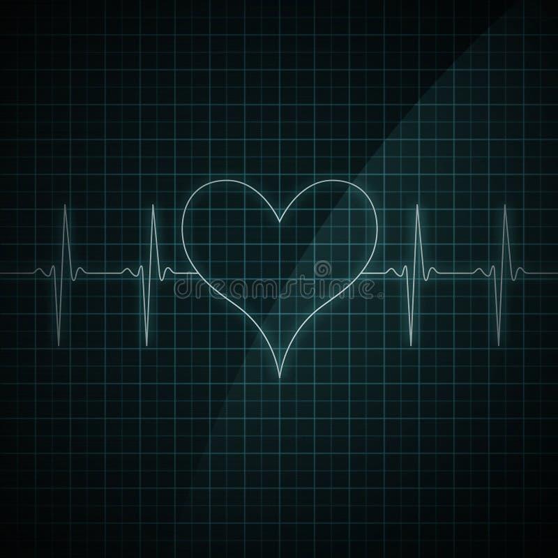 Heart Beat Monitor stock illustration