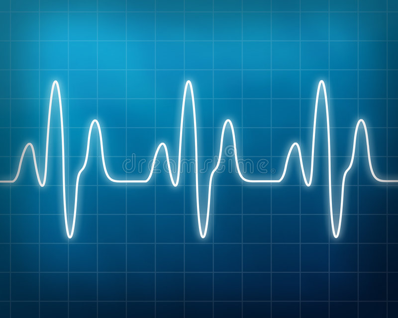 Heart beat monitor royalty free illustration