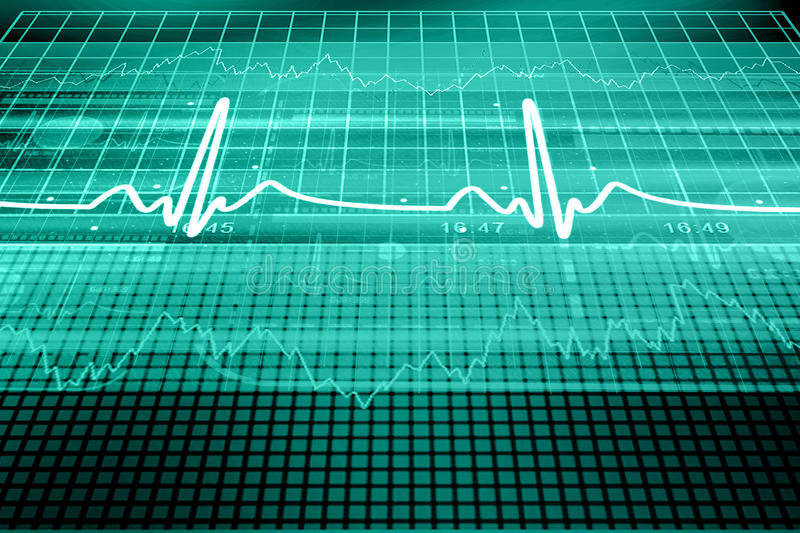 Heart beat monitor. In color background vector illustration