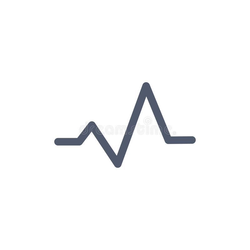 Heart beat monitor pulse line art vector icon for medical apps reports, presentations. Isolated illustration vector illustration