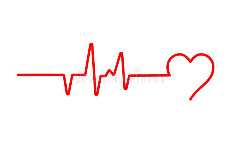 Heart beat pulse flat vector icon for medical apps and websites. Blood pressure , cardiogram, health EKG, ECG logo. Heart in flat outline style vector illustration