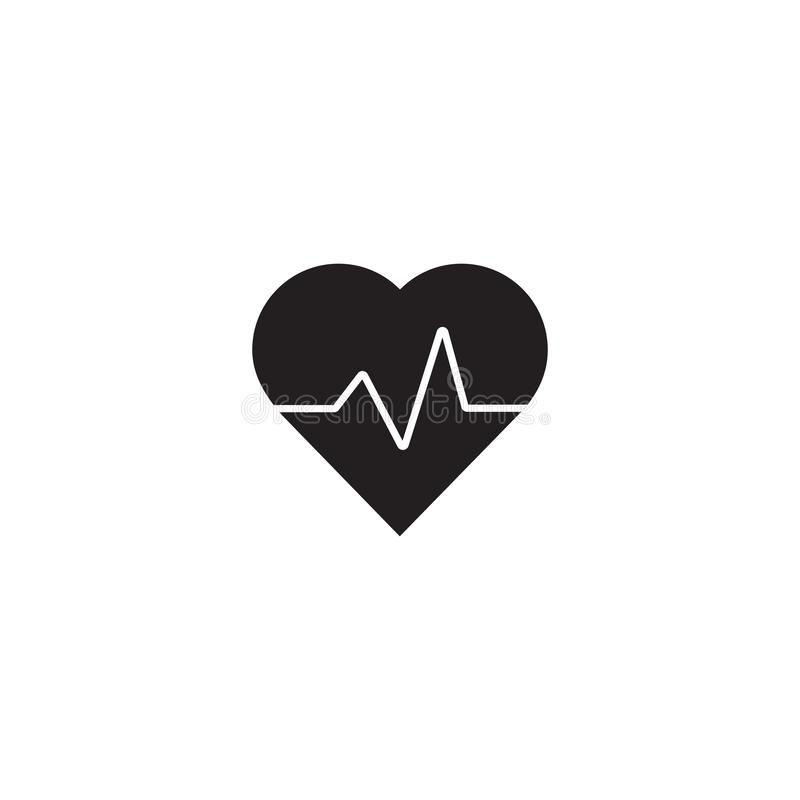 Heart beat rate icon, healthcare and medical concept vector illustration stock illustration