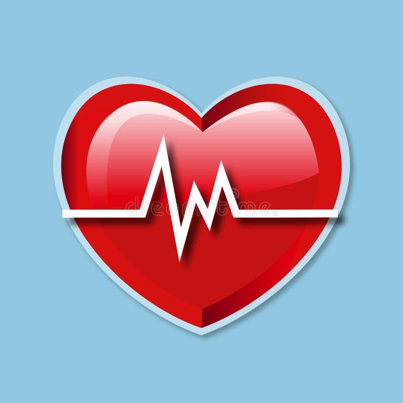 Heart Beat Rate icon stock illustration