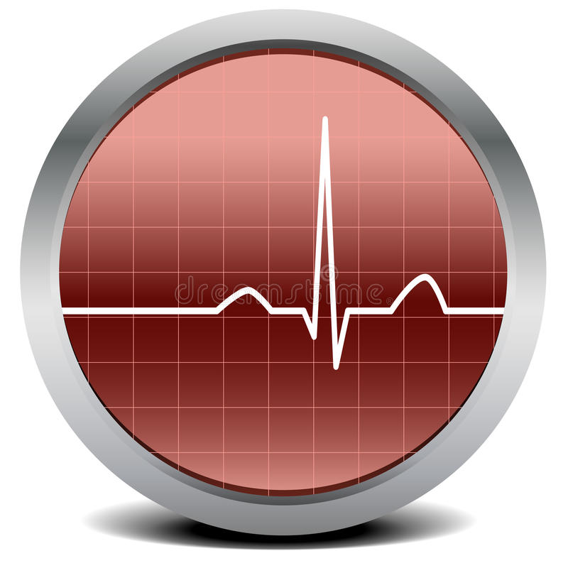 Download Heart beat signal stock vector. Illustration of beat - 24619368