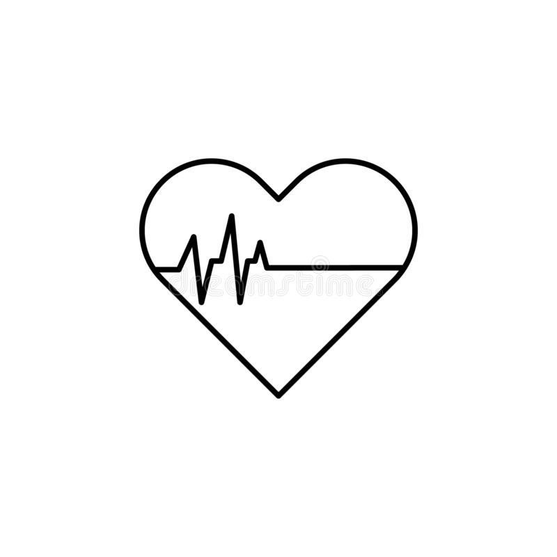 heart beat stops, death outline icon. detailed set of death illustrations icons. can be used for web, logo, mobile app, UI, UX vector illustration