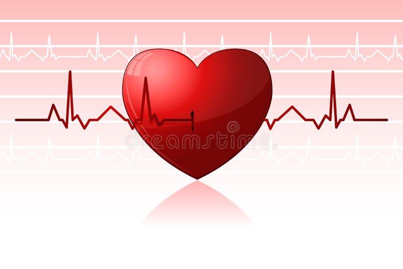 Download Heart Beats stock vector. Image of cardiology, exam, editable - 18582279