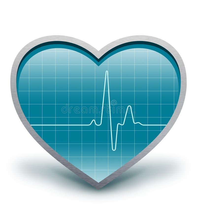 Heart beats stock illustration