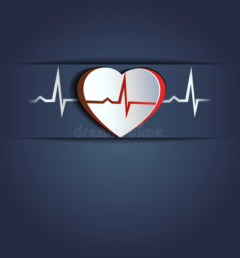 Heart beats cocept vector illustration