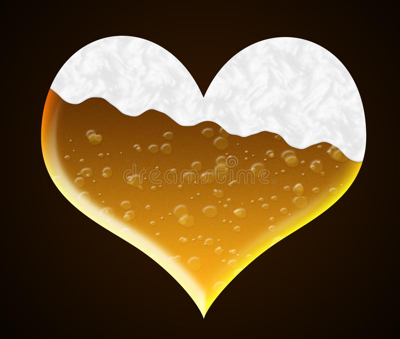 Download Heart of beer stock illustration. Image of thirsty, concept - 28441483