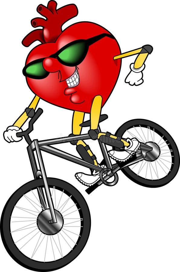 Heart_bike ilustração stock