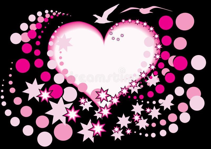 Heart and bird stock illustration