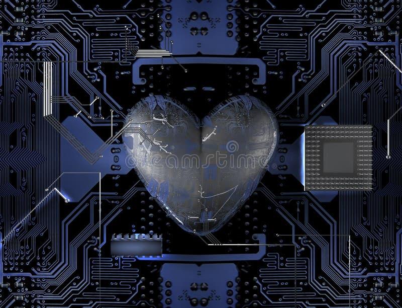 Download Heart bit stock illustration. Image of circuit, love - 24026879