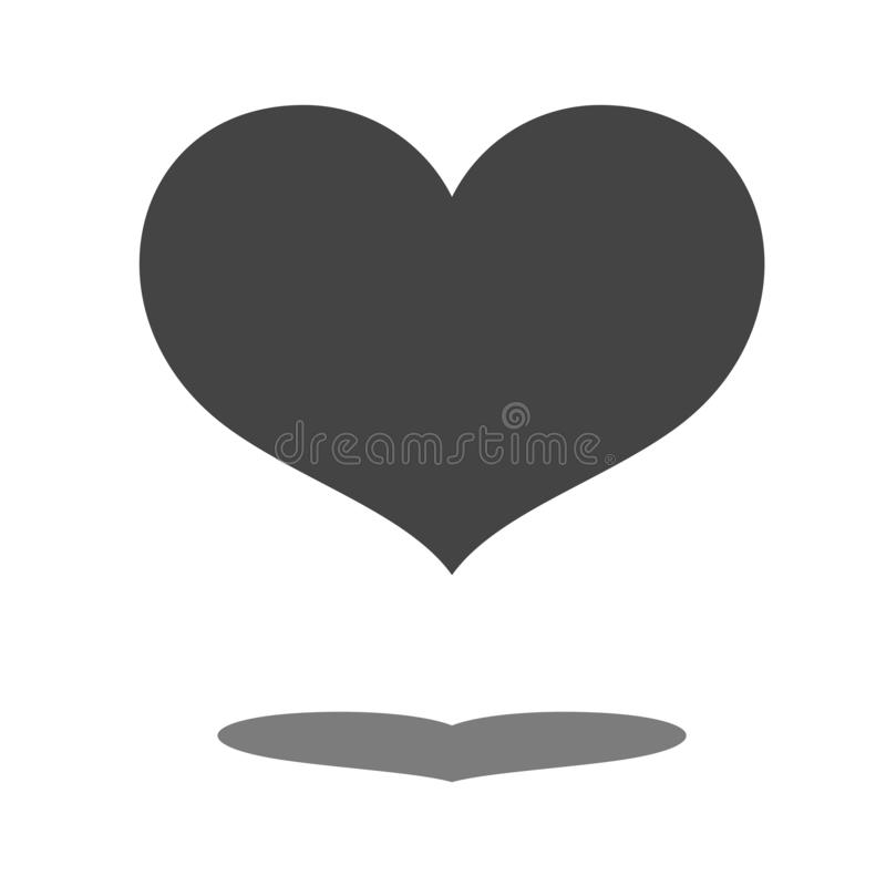Heart. Black vector icon. Black heart on a white background for cards, cards, logo vector illustration