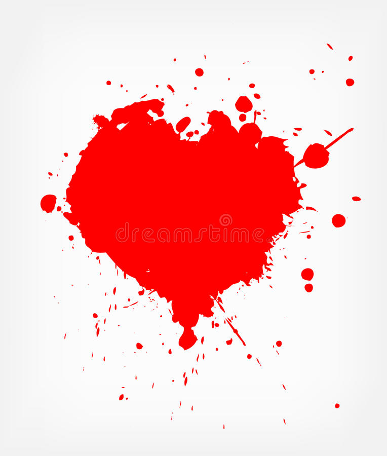 Heart with blood stock illustration