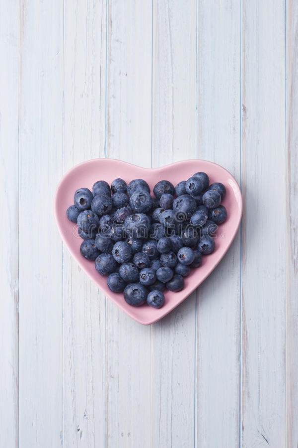 Heart Blueberries Background royalty free stock images