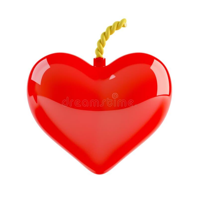 Heart Bomb Royalty Free Stock Photos
