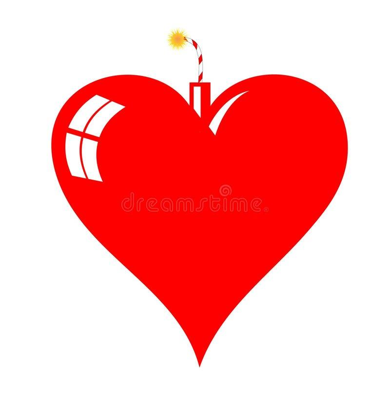 Download Heart Bomb stock vector. Image of light, explode, valentine - 8142018