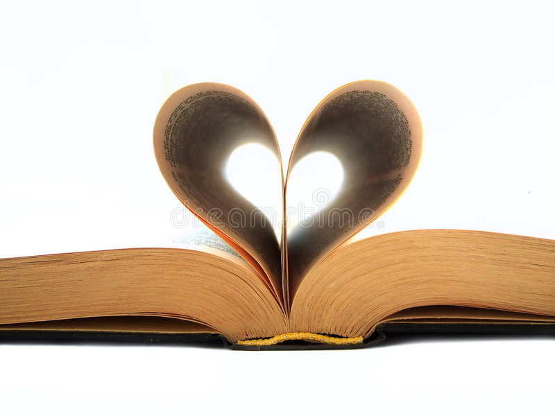 Heart book royalty free stock photography