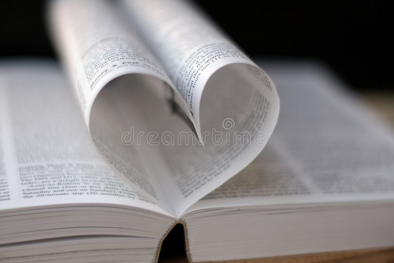 Heart from book pages royalty free stock photography