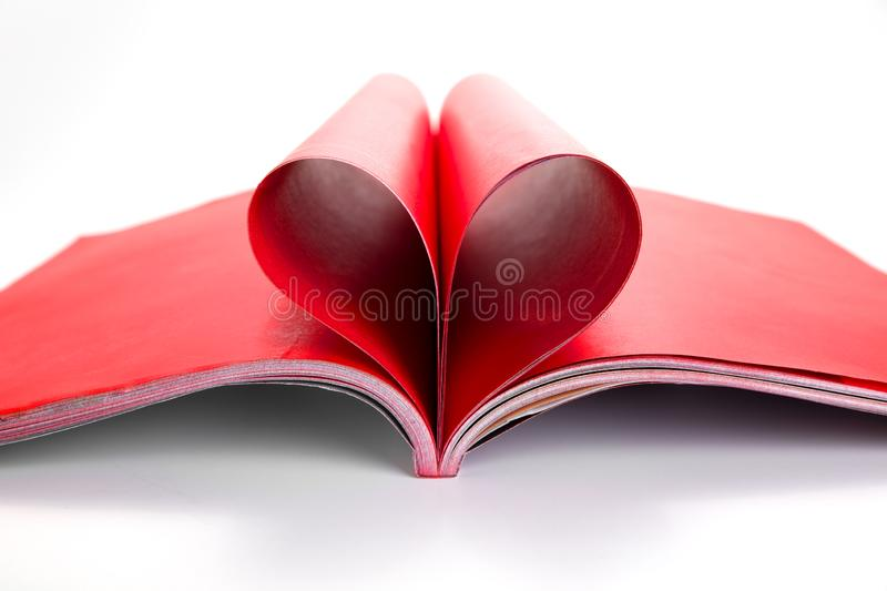 Heart book royalty free stock image