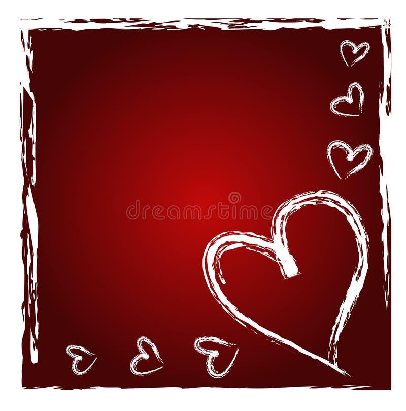 Heart border royalty free illustration