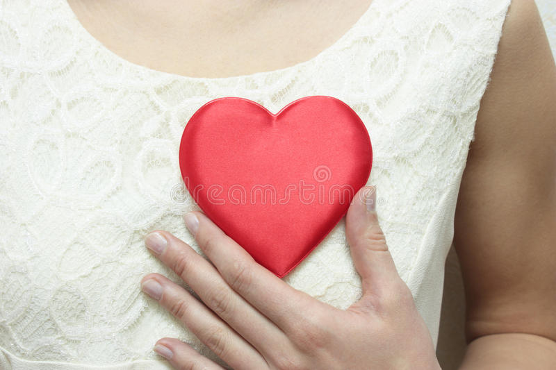Download The Heart on bosom. stock photo. Image of heart, meeting - 11526270